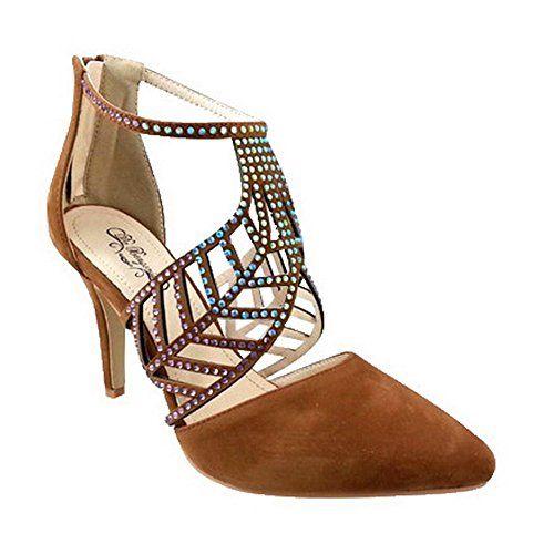 Women Marleen Elegant suede Heel CAMEL US10 * Click image to review more details.