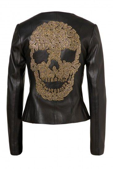 5535592711ab We love this Philipp Plein  Say My Name  Skull leather jacket ...