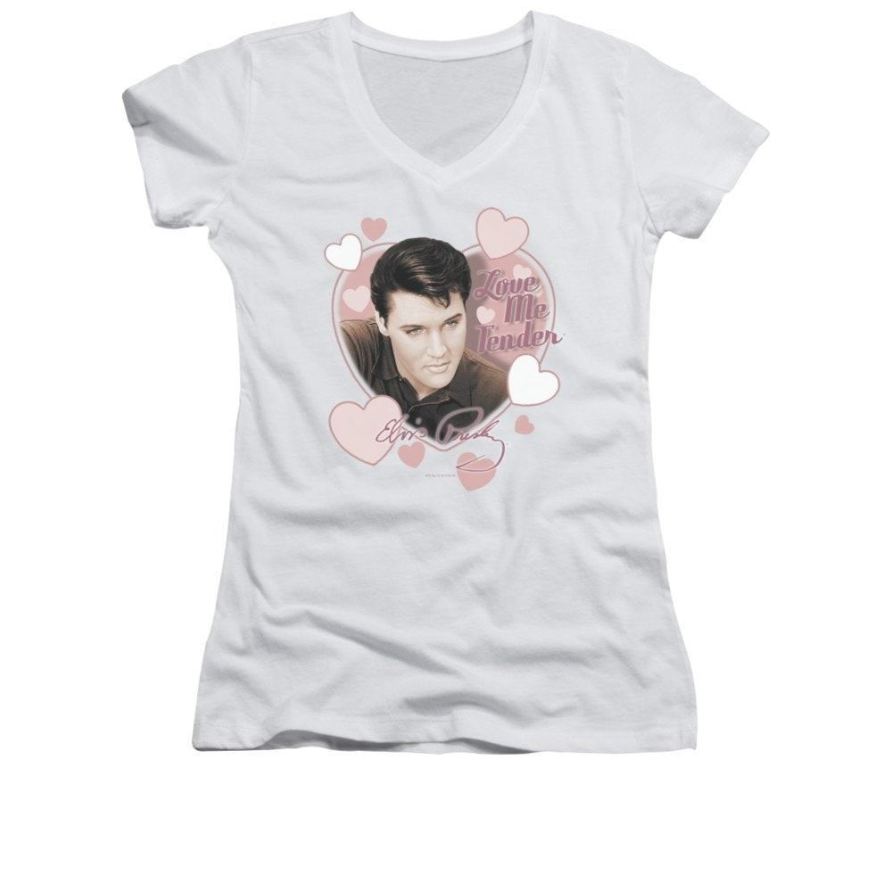 Elvis Presley WITH THE BAND Licensed Juniors Cap Sleeve T-Shirt
