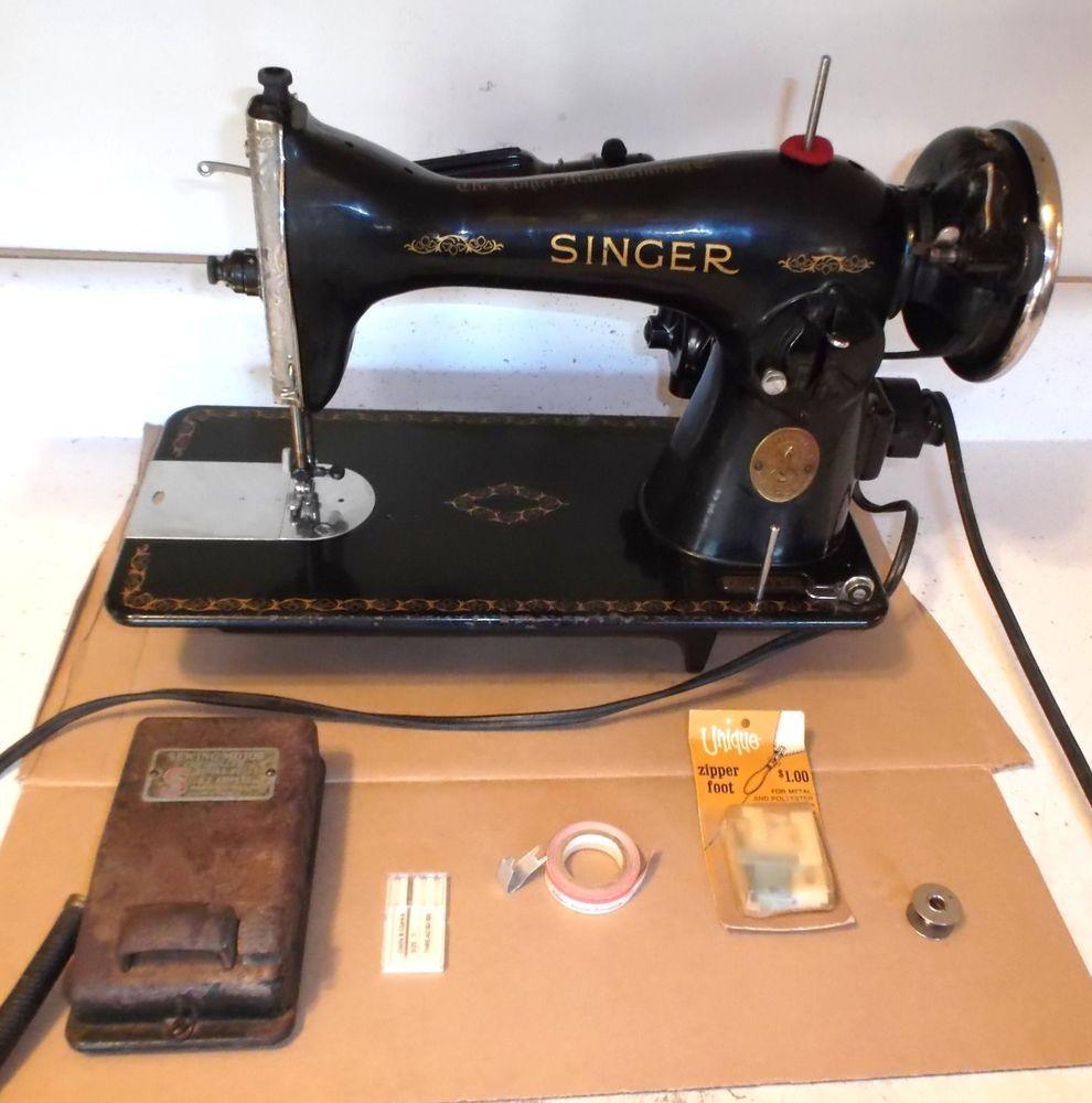 Vintage 1940 S Singer Sewing Machine All Metal Model 15 1946 Sewing Machine Singer Sewing Machine Singer Sewing