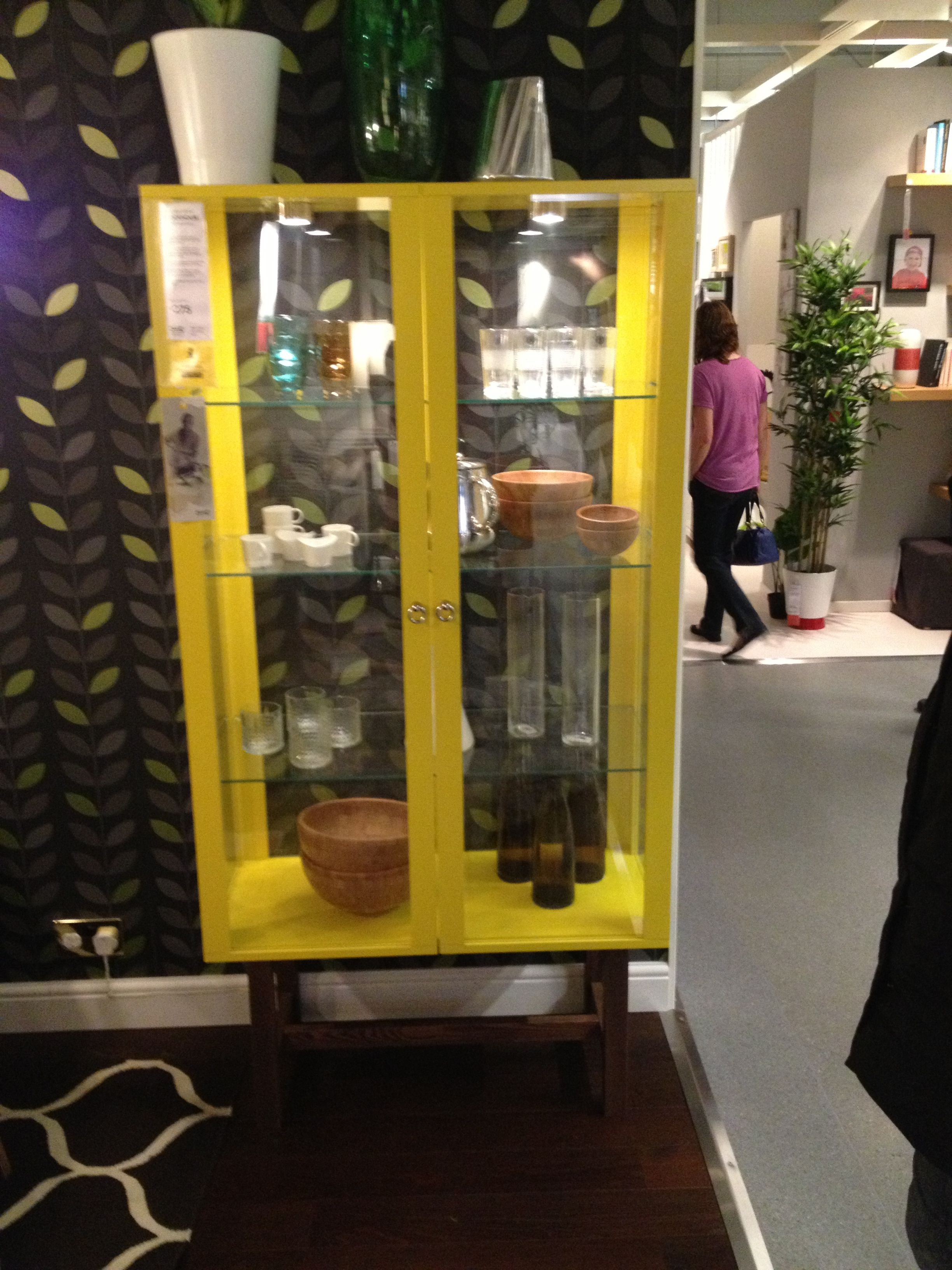 Yellow Ikea Hemnes Linen Cabinet ~ Yellow cabinet from Ikea  I K E A  Pinterest  Ikea, Cabinets and