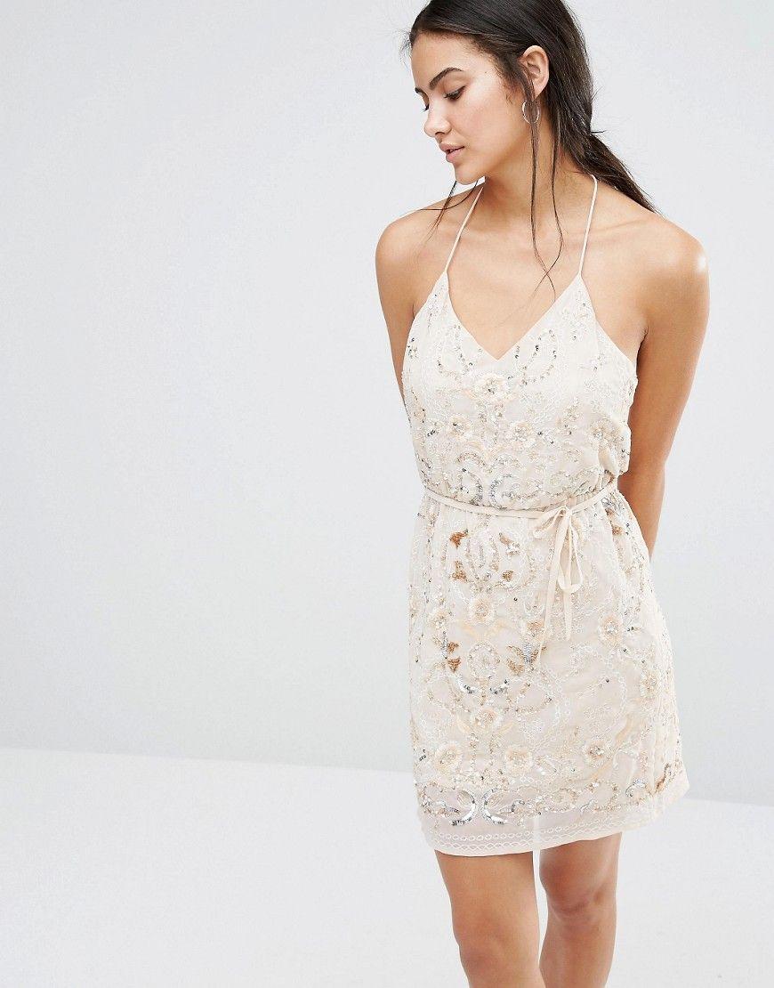 Image 1 of River Island Premium Embellished Cami Mini Dress