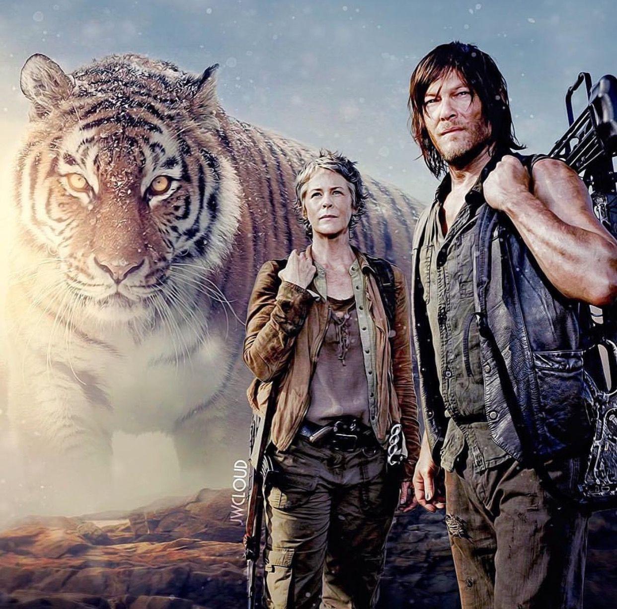 Carol Daryl The Walking Dead Amc Walking Dead Series Walking Dead Pictures Walking Dead Art