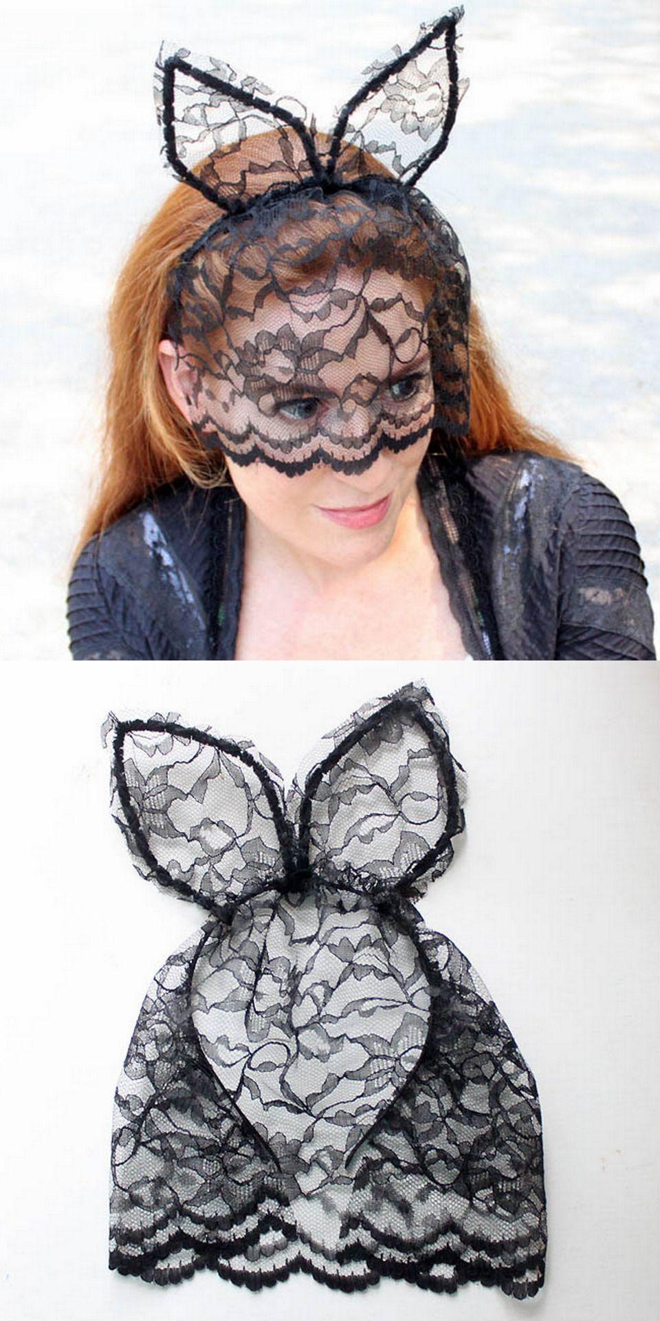 diy veiled cat ear headband tutorial from gina michele. this diy