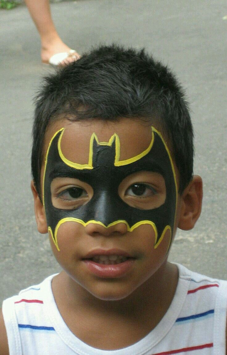 Batman Yuz Boyama Face Paintings Maquillaje Carnaval Infantil
