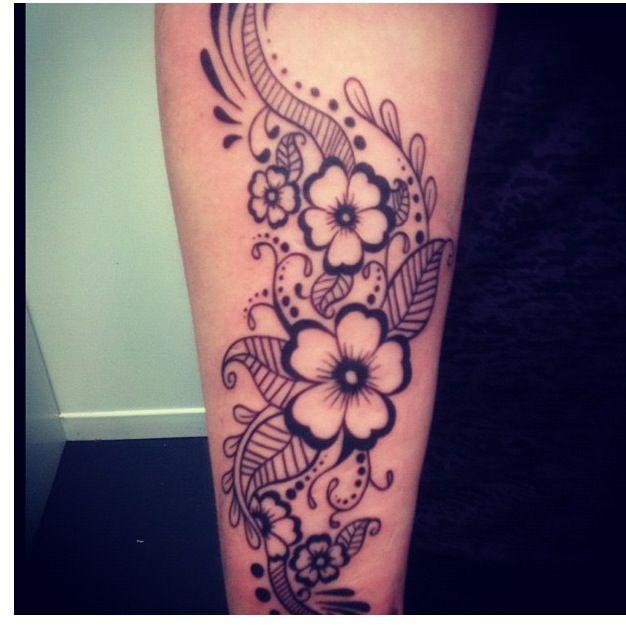 Feminine Tribal Floral Tattoo Love This Feminine Tattoos Floral Tattoo Floral Thigh Tattoos