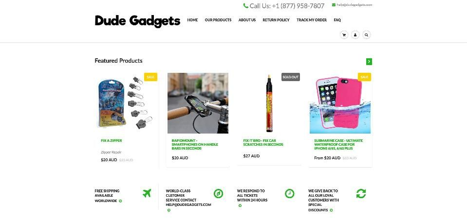 Successful Shopify Store Dude Gadgets is the world's leading
