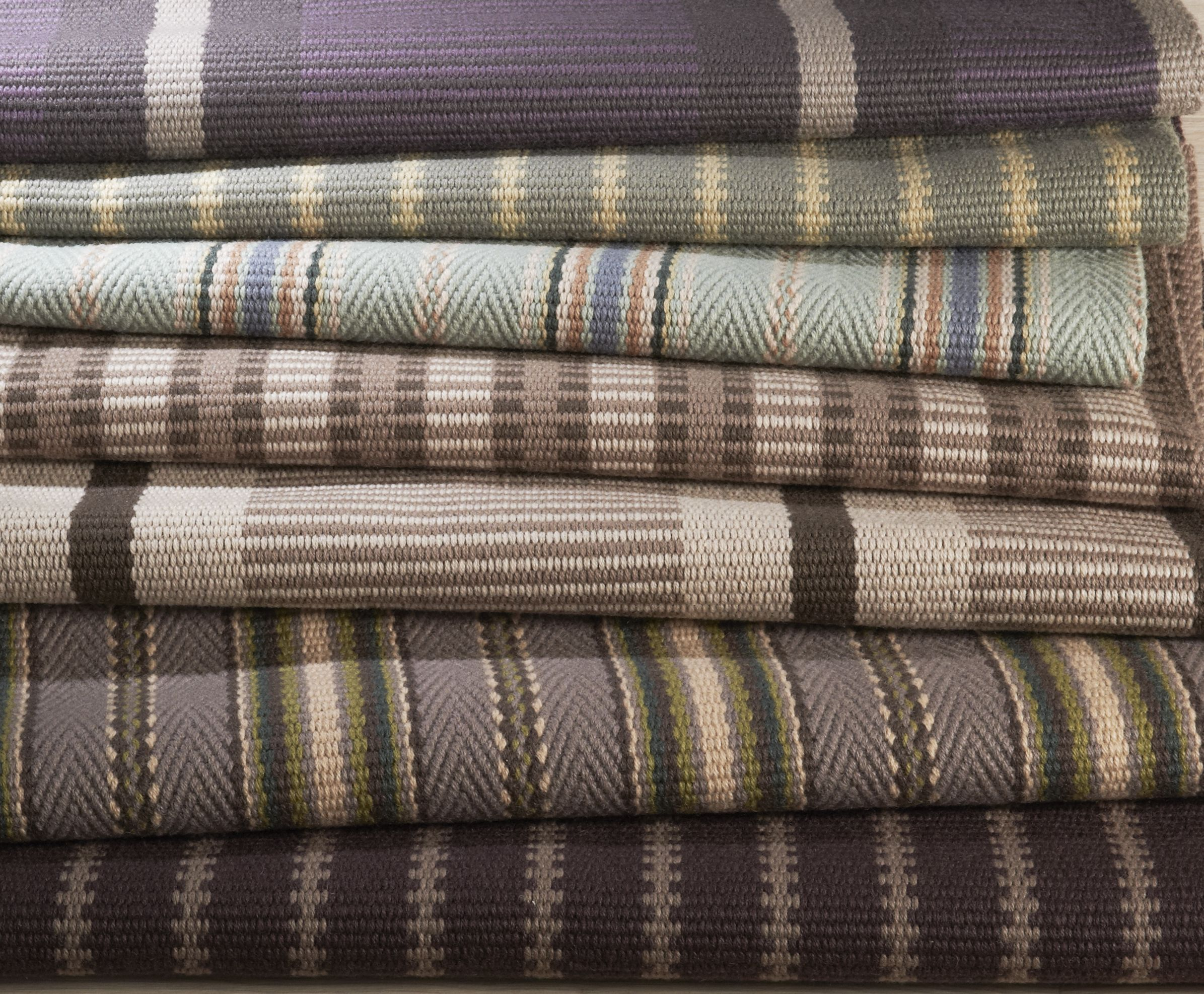 Hartley Tissier Stripes Collection Of Flatweave Stair