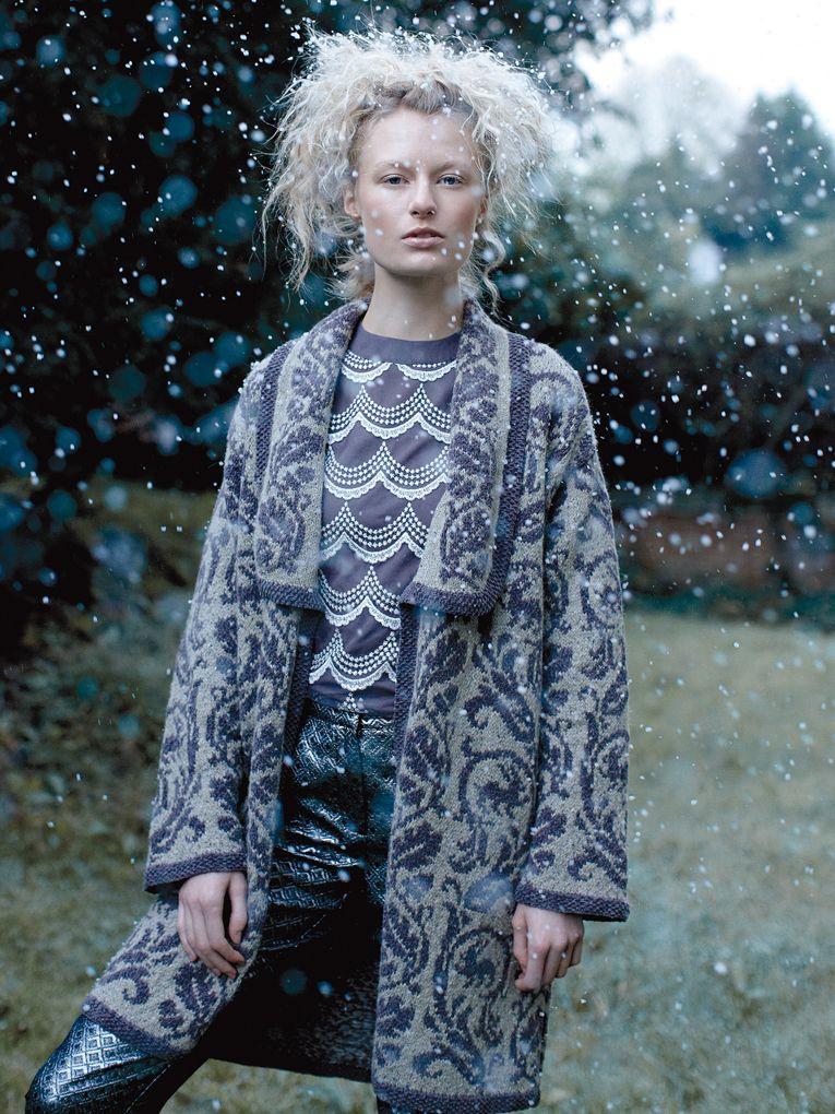 Blizzard - Knit this ladies fairisle jacket from Rowan Knitting ...