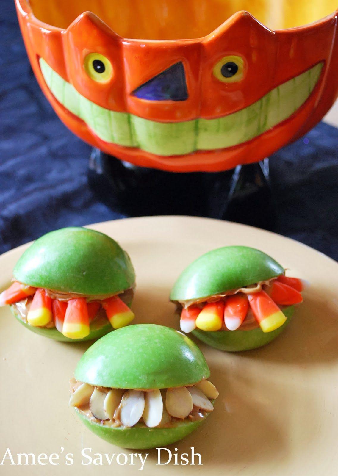 Halloween monster mouths recipe halloween recipes pinterest