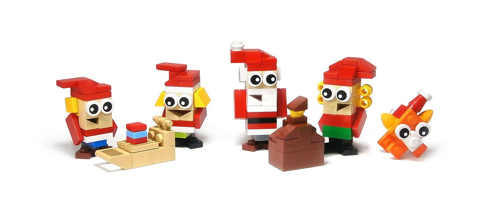 The Santa Family Cool lego creations, Lego christmas