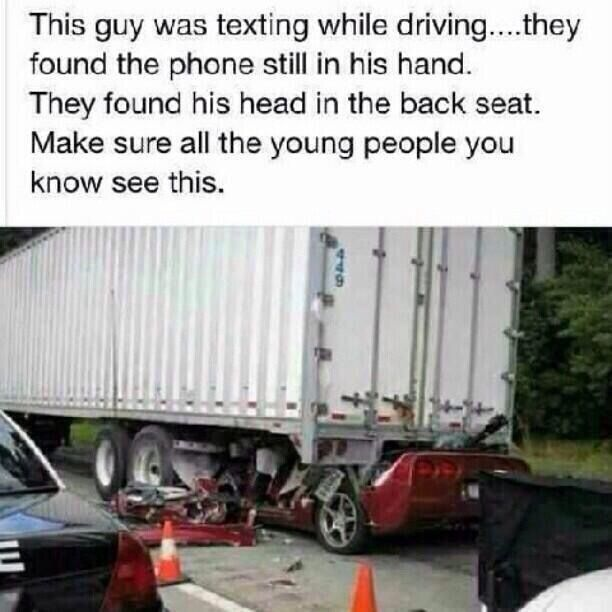 Pin by Rotimi Mulah on Quotes | Texting while driving, Distracted ...