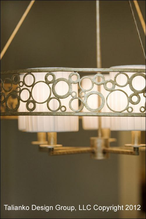 Talianko Design Group Dining Room Chandelier Detail  #Chandelier #LivingRoom #DiningRoom #Elegant #Details #Circles #Shades