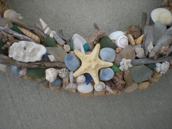 uses for all those shells and drift wood!