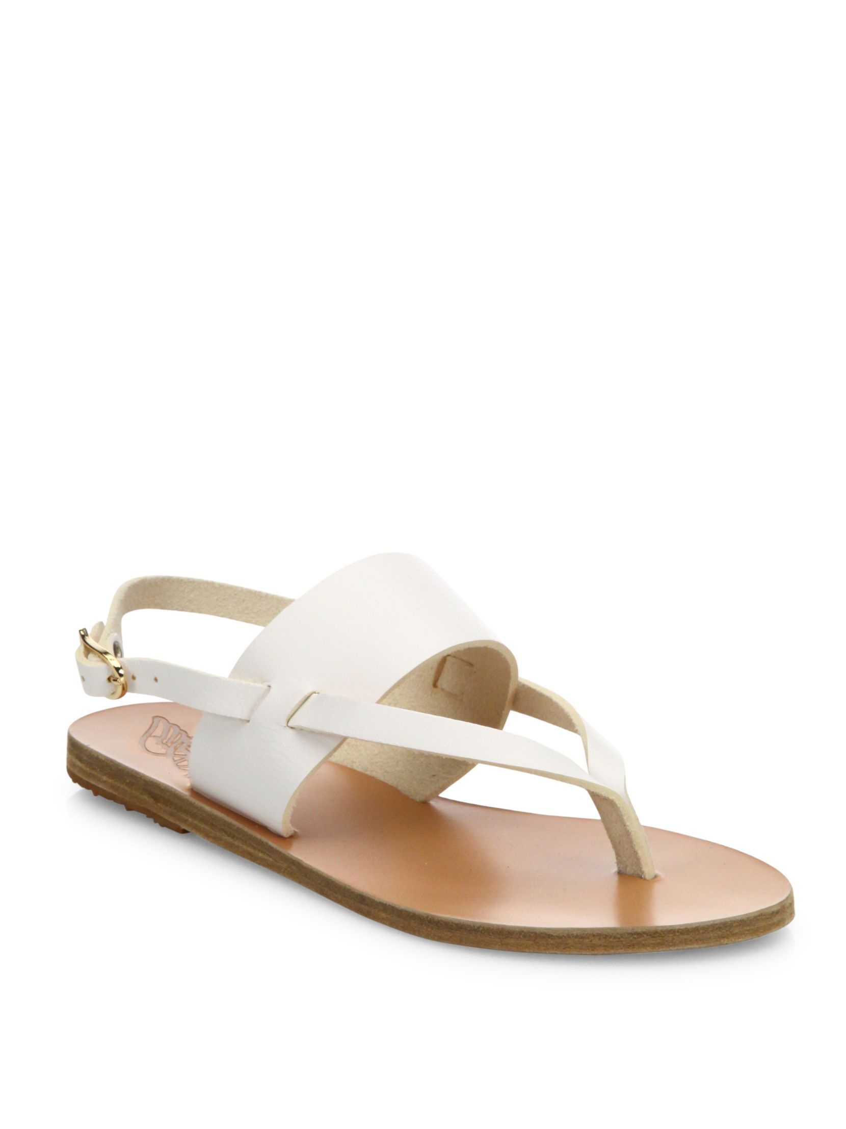 28e738221 Ancient Greek Sandals Zoe Leather Thong Slingback Sandals