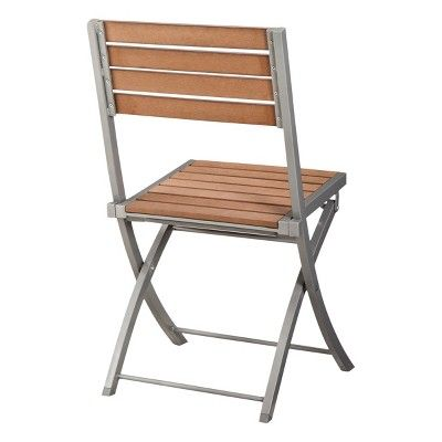 Brilliant Bryant Faux Wood Patio Folding Chair Threshold Products Gmtry Best Dining Table And Chair Ideas Images Gmtryco