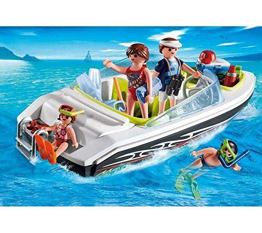 playmobil 4862  schnittiges sportboot  playmobil pferde