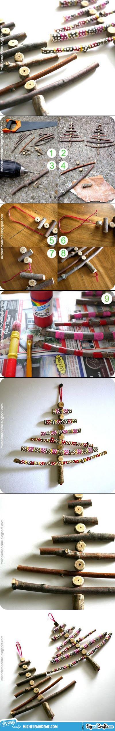 DIY Twiggy Christmas Trees   #DIY