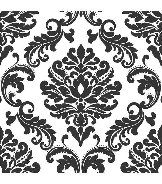 Wallpops Nuwallpaper Ariel Black And White Damask Peel And Stick Wallpaper 20 5 X 18 Ft 39 99 Jo Ann Peel And Stick Wallpaper Nuwallpaper Damask Wallpaper