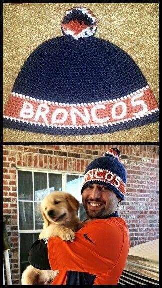 Denver broncos crochet beanie (Free Base Pattern)-- http://www ...
