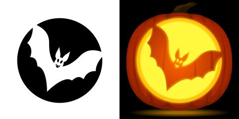 stencil bat - Modern Homes Interior Design and Decorating ... |Bats Boo Pumpkin Stencil