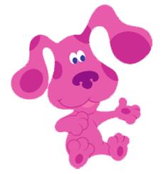 Magenta Blues Clues Cartoon Dogs