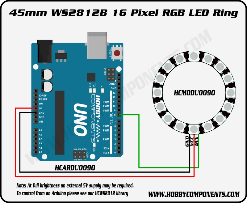 Wiring Diagram Neopixel Ring Pictures WS2812B in 2019 ... on
