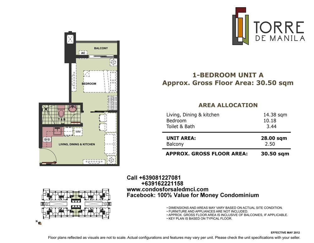 Torre De Manila 1 Bedroom Unit A Approx Gross Floor Area 30 50 Sqm The Unit Flooring Pool Lounge