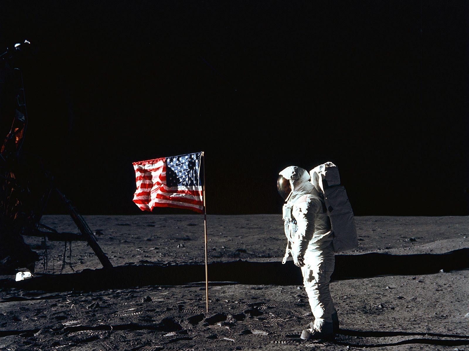 moon landing hoax flag - photo #13