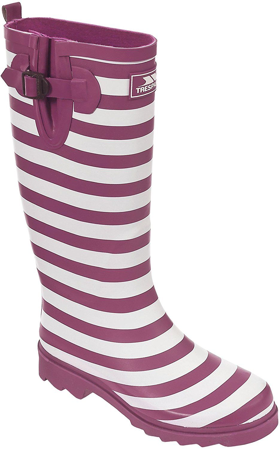 womens Trespass Ladies Samira Striped Rubber Welly Wellington Boots Rubber