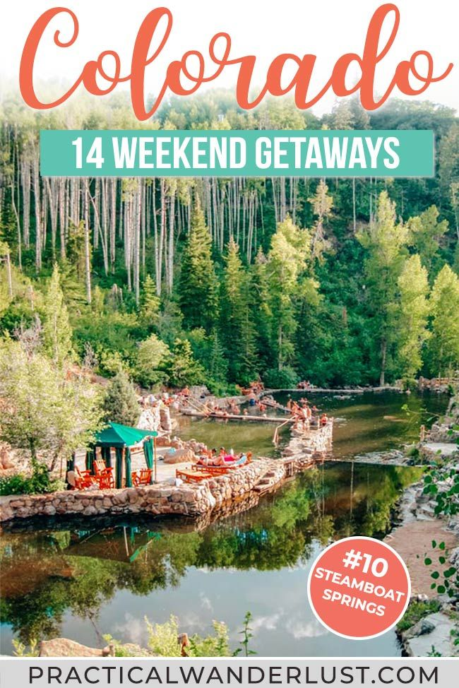 The 14 Best Weekend Getaways in Colorado: from Hiking to Hot Springs -   19 travel destinations United States adventure