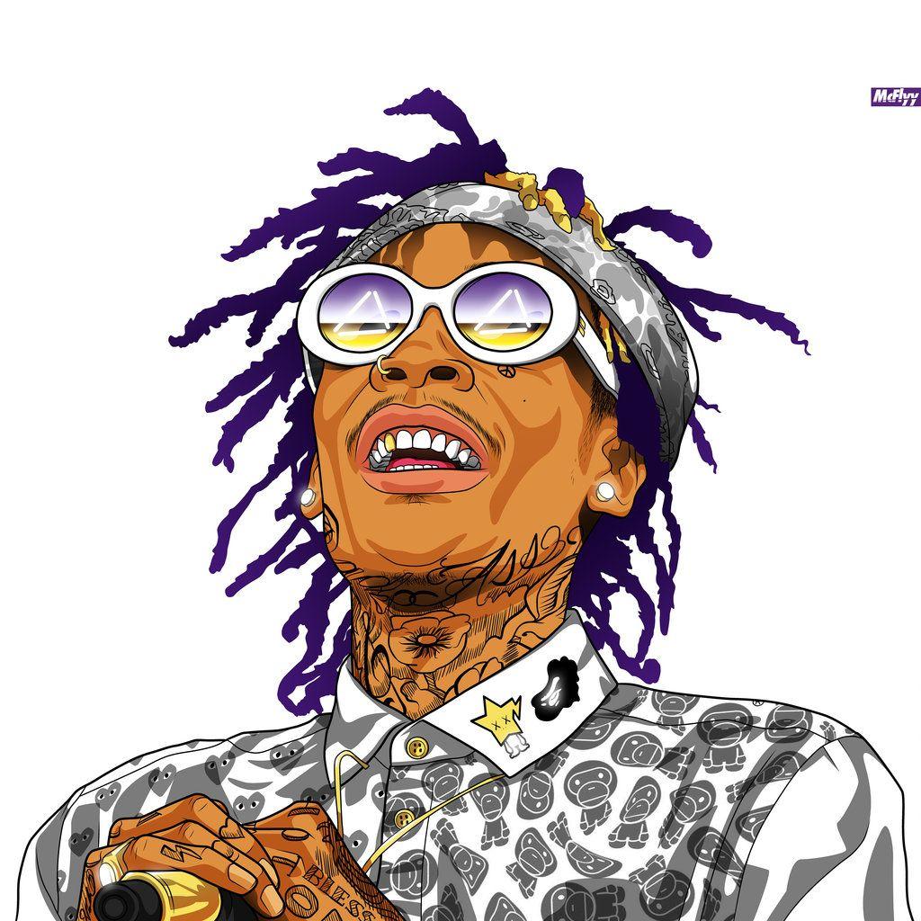 Pin By Shawn T On Art Hip Hop Urban The Wiz Rapper Art Wiz Khalifa