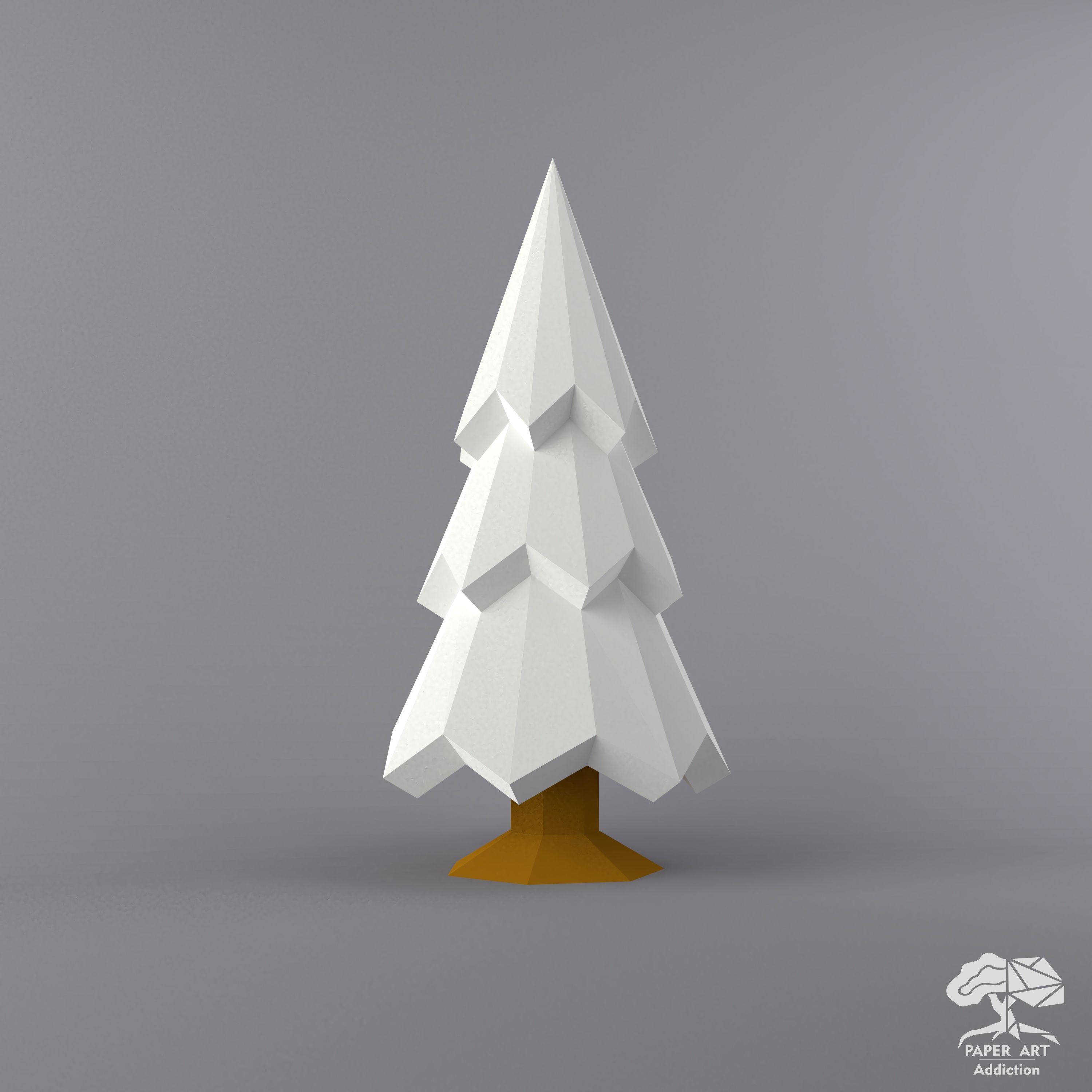 3d Christmas Tree Diy Papercraft Pdf Pattern Xmas Low Poly Etsy In 2020 Paper Crafts Snowy Christmas Tree Diy Christmas Tree