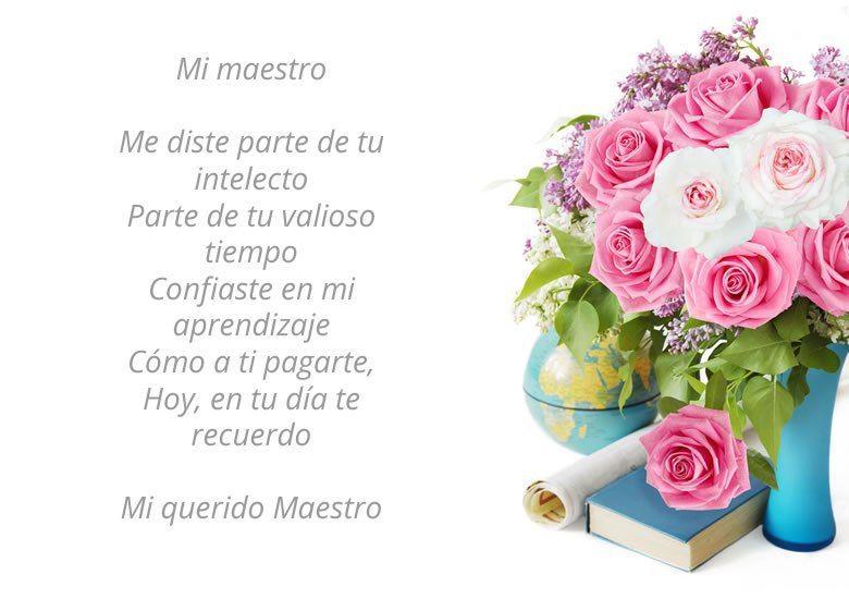 Poemas Del Día Del Maestro Para Lucirte Con Ellos Este 15 De Mayo Place Card Holders Tongue Twisters Birthday