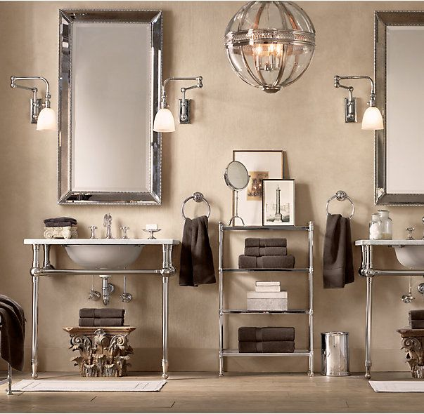 RHs Venetian Beaded MirrorOur Mirror Features Broad Beveled Glass Embraced By A Mirrored Frame
