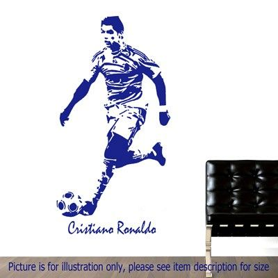 Real Madrid CF  Wall Decal Decor Stickers Vinyl Sport Custom Name Soccer