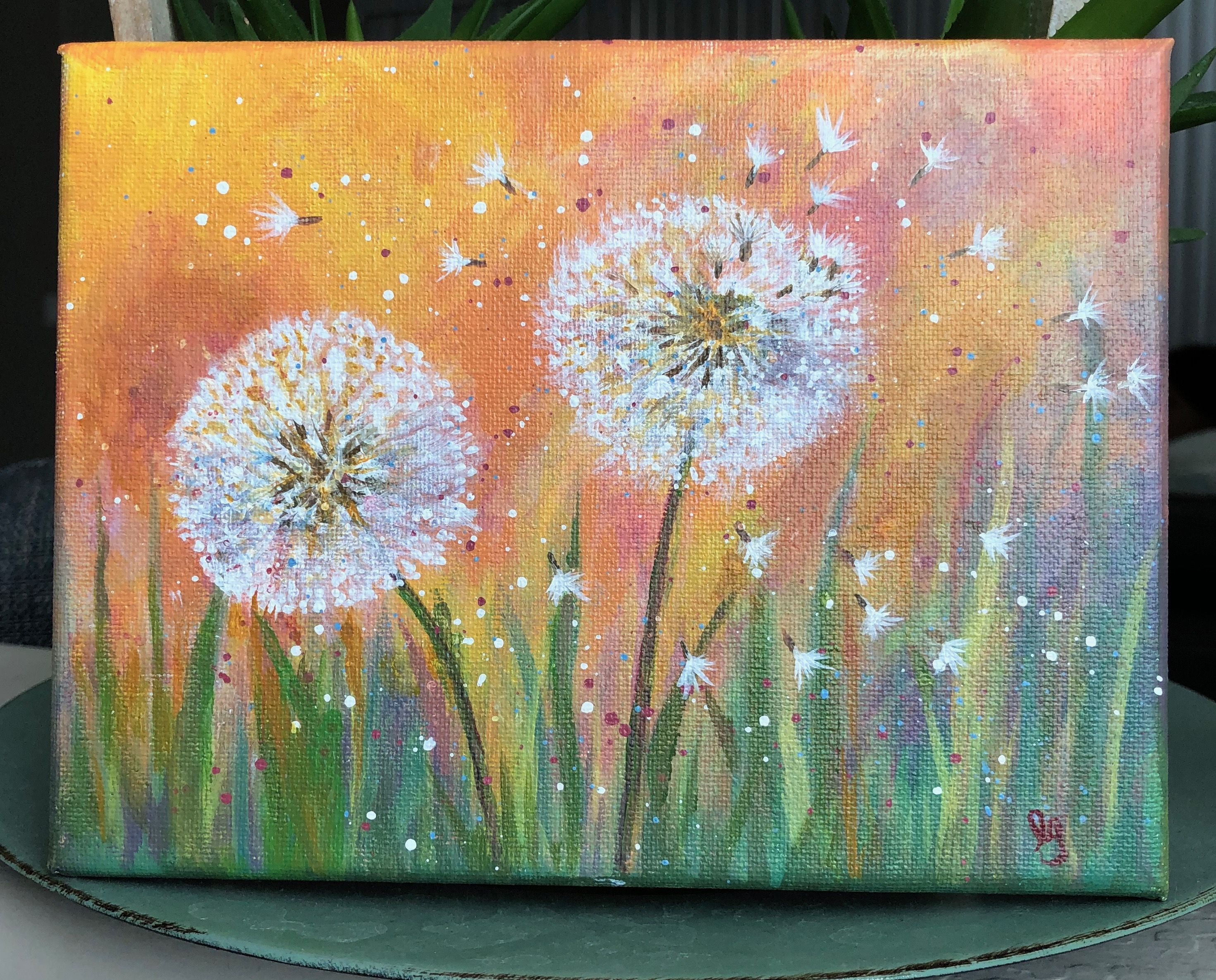 My First On Canvas Painting