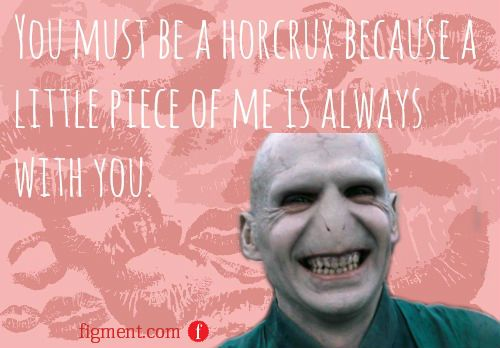 You must be a Horcrux because a little piece of me is always with – Electronic Valentines Day Card