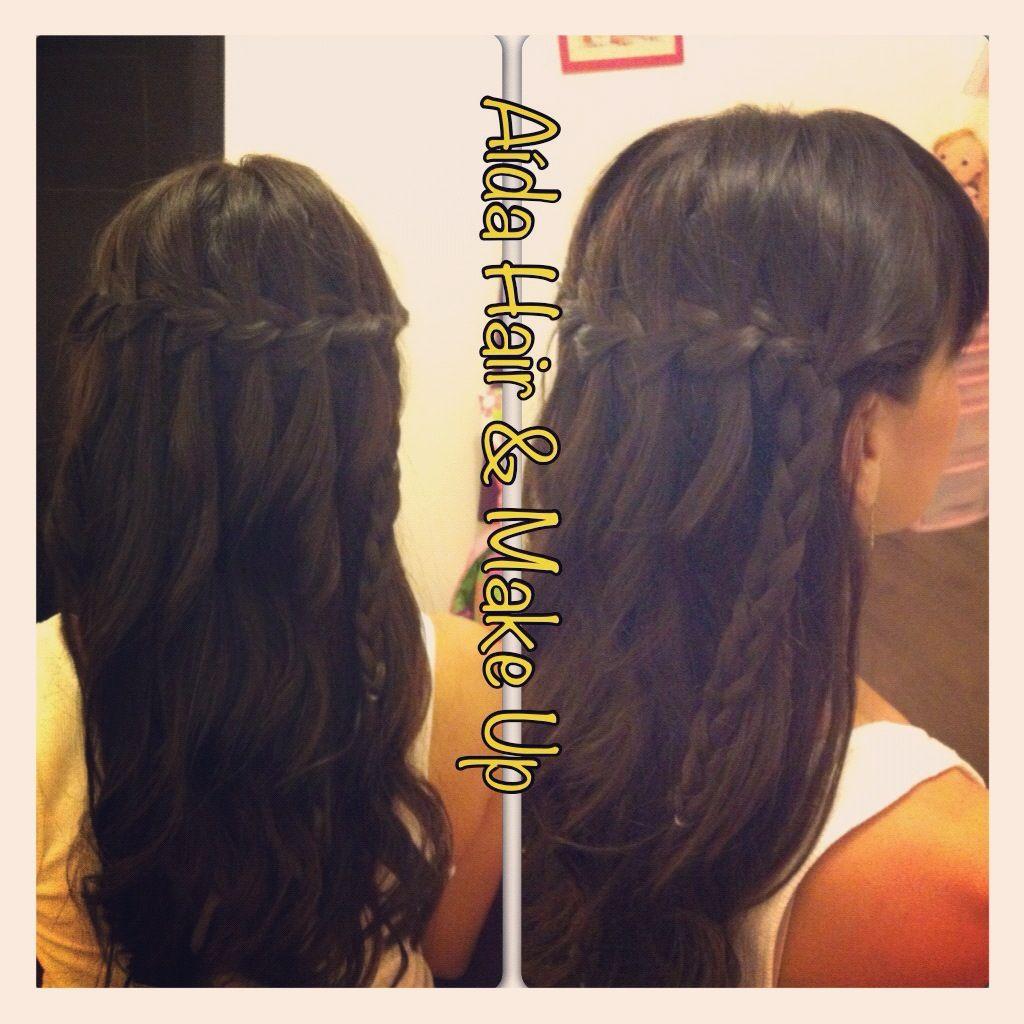 Trenza cascada hair pinterest