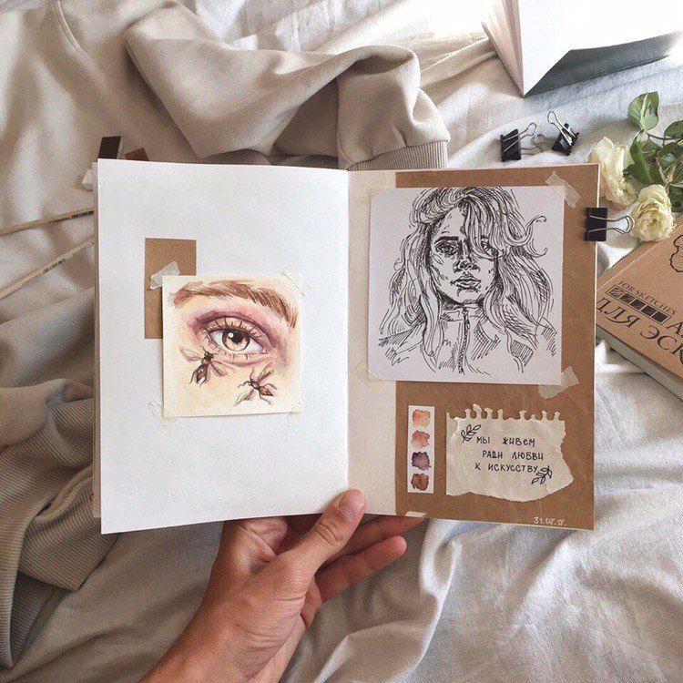 Эстетика в фото🍿 | Артбуки, Рисунки, Иллюстрации арт