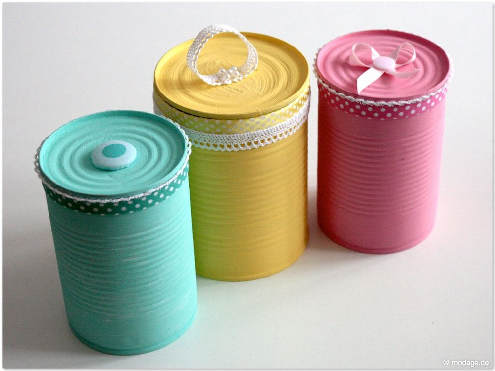 Upcycling Konservendosen Aufhübschen Basteln Pinte
