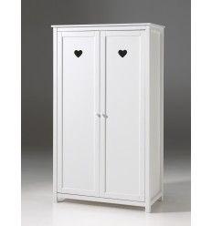 Armoire Chambre à Coucher Blanc Laqué Pour Fille.