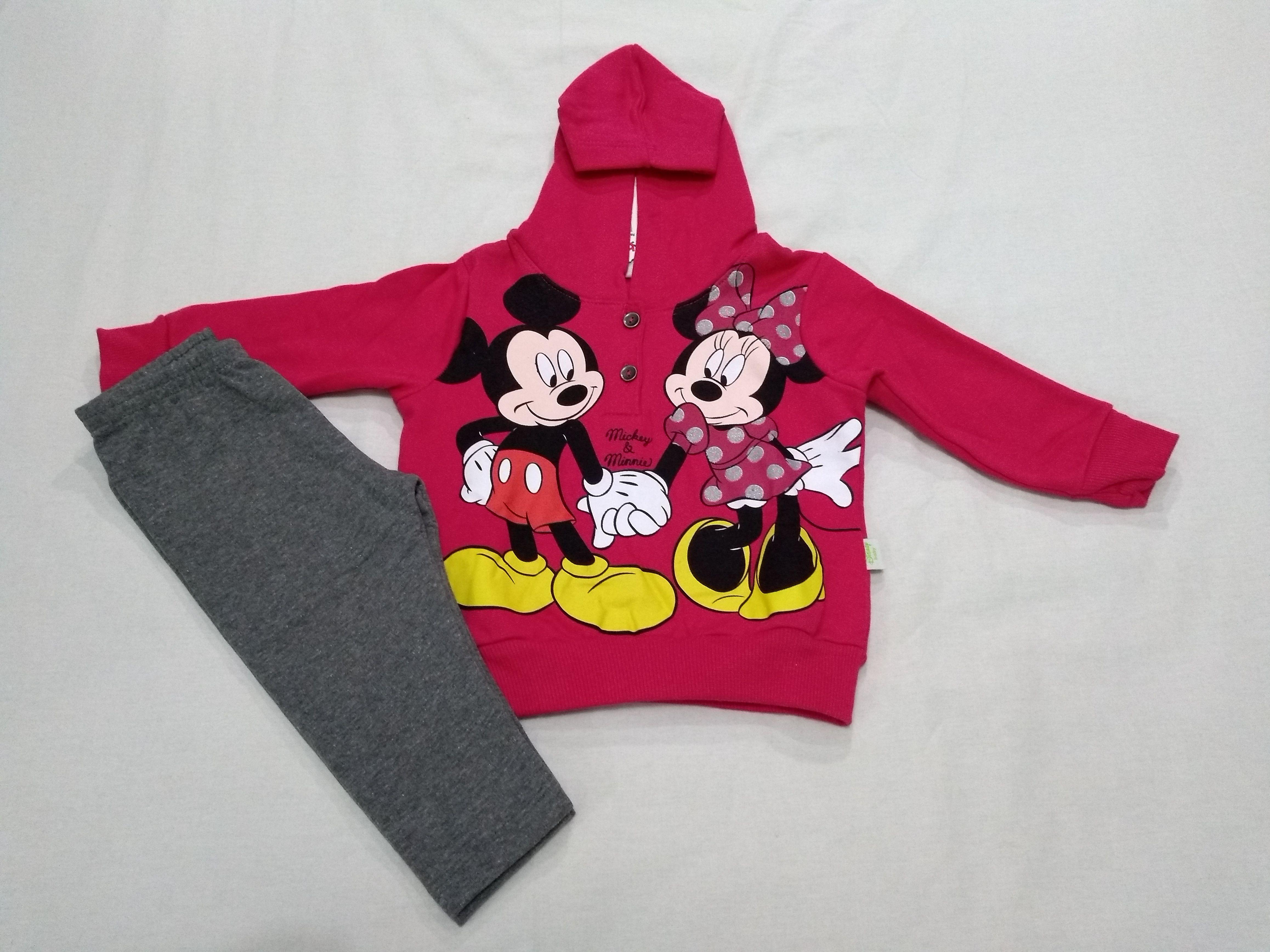 0c8302da922b96 Conjunto Moletom Infantil Menina Brandili Disney Mickey e Minnie ...