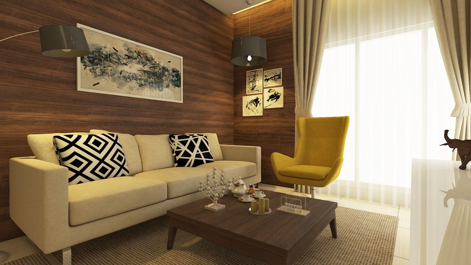 Living Room Furniture Mumbai living room-residence/ sample flat for zara habitats llp, mumbai