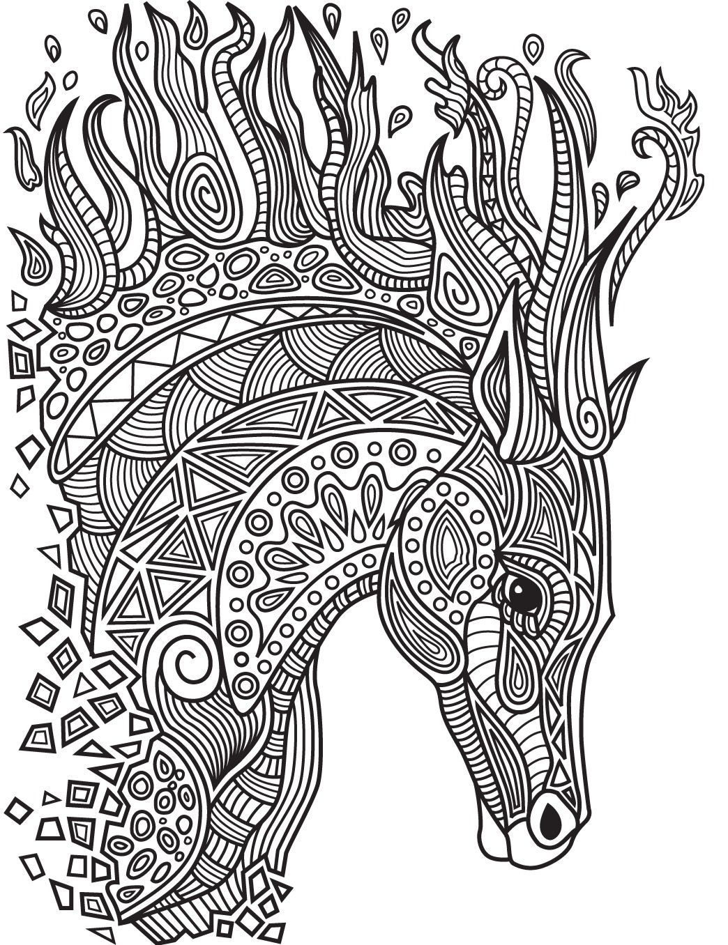 Ausmalbilder Pferd Mandala : Horses Colorish Coloring Book App For Adults Mandala Relax By