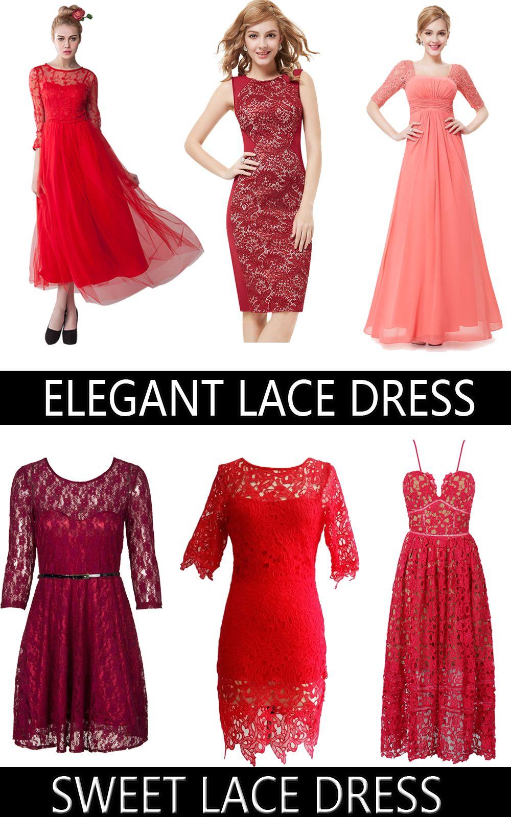 Red lace dressessweet or elegant you choose fashion pinterest