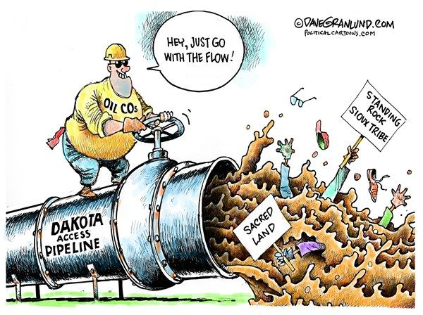 dave granlund politicalcartoons com dakota access pipeline color