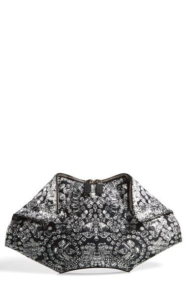Alexander McQueen  De Manta -Jewel Print  Silk Clutch available at   Nordstrom 50fdca28f5