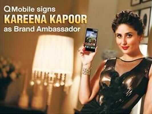 Kareena Kapoor Endorses Pakistan Brand Qmobile Kareena Kapoor Brand Ambassador Celebrities