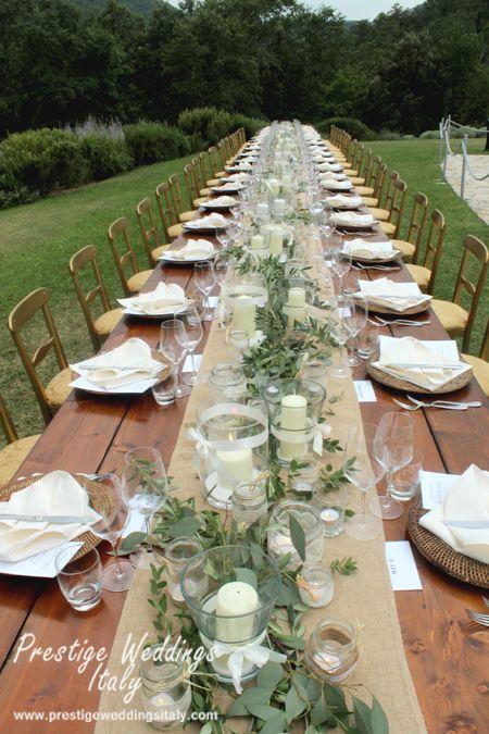 Long Table For 42 People Castle Wedding In Italy Prestigeweddingsitaly